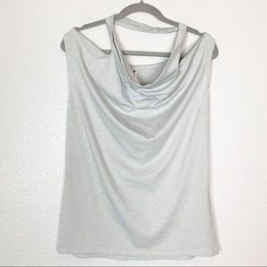 Fabletics | Gray Cut Out Draped Sleeveless Top